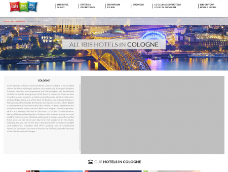 Hotel Cologne: ibis hotels for a weekend break or business ...