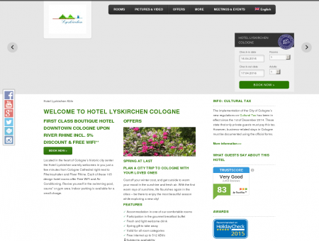 Hotel Lyskirchen Cologne - Design Hotel Cologne - Free WiFi