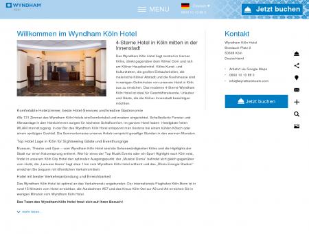 Wyndham Köln Hotel - Hotelzimmer direkt am...