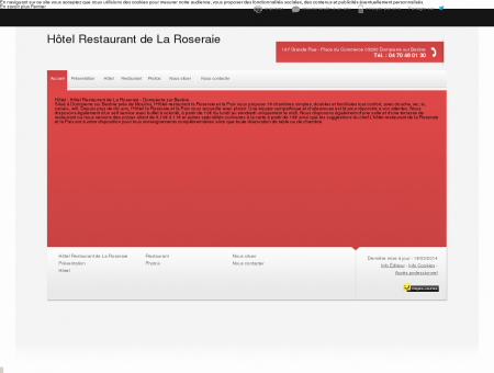 Hôtel - Hôtel Restaurant de La Roseraie à...
