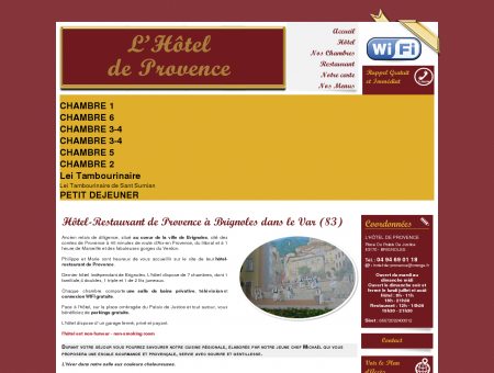Hotel Brignoles - L'HOTEL DE PROVENCE :...