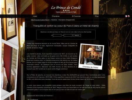 Hôtel paris 6 - Description des chambres |...