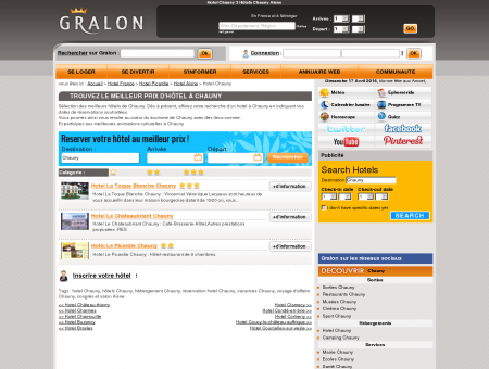Hotel Chauny 3 Hôtels Chauny Aisne - Gralon :...