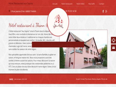 Hotel Thann - EURL AUX SAPINS : hotel...