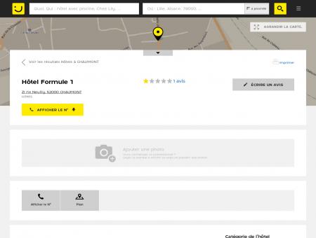 Hôtel Formule 1 Chaumont (adresse, avis)