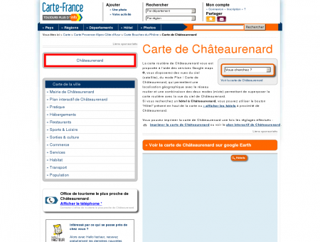 Carte et plan de Châteaurenard 13160 : Hôtel,...