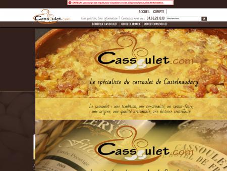 Cassoulet de Castelnaudary. Foie Gras...