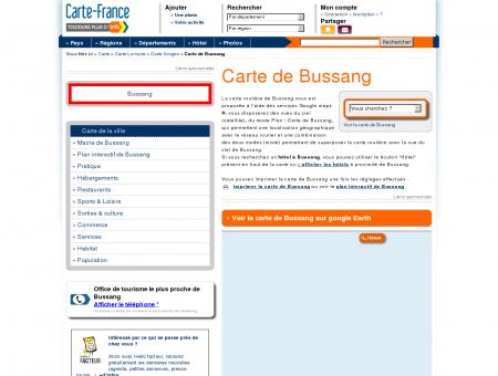 Carte et plan de Bussang 88540 : Hôtel,...