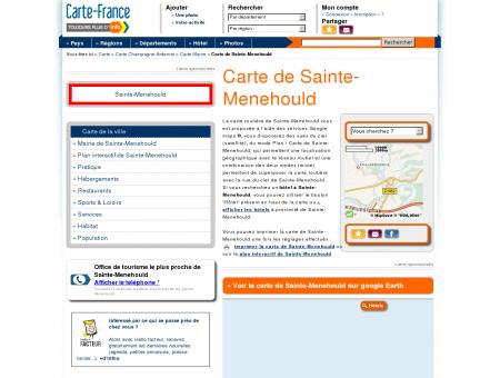 Carte et plan de Sainte-Menehould 51800 :...