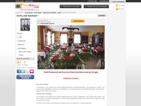 Hôtel Restaurant Des Sources pour un séjour à...