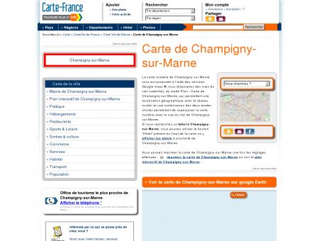 Carte et plan de Champigny-sur-Marne 94500 :...