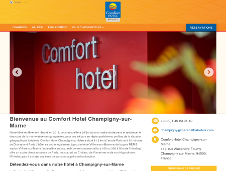 Comfort Hotel Champigny-sur-Marne - Champigny sur Marne ...