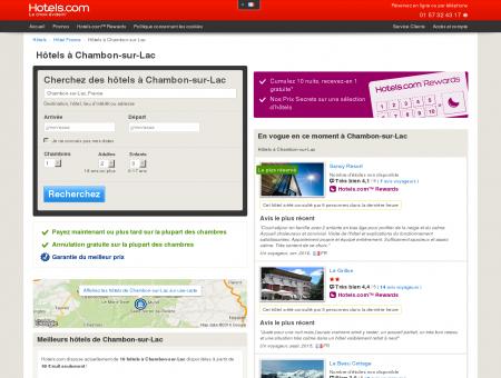 Hôtel à Chambon-sur-Lac - comparaison et...