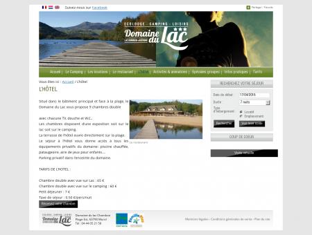 L'hôtel - Domaine du Lac de Chambon en...