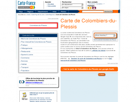 Carte et plan de Colombiers-du-Plessis 53120 :...