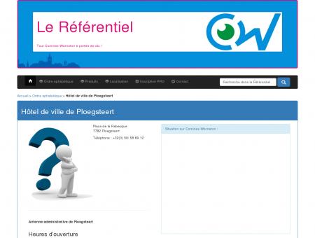 Hôtel de ville de Ploegsteert - Le Référentiel de ...