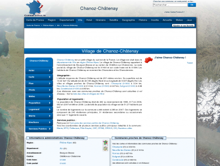 CHANOZ-CHATENAY - Carte plan hotel village...
