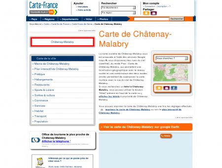 Carte et plan de Châtenay-Malabry 92290 :...
