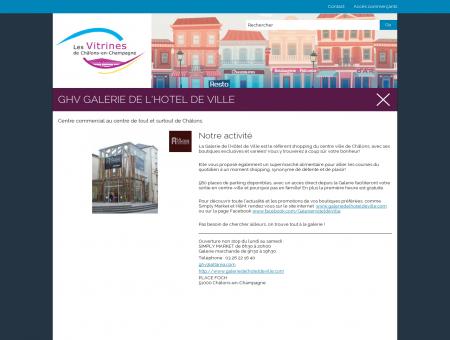 GHV GALERIE DE L'HOTEL DE VILLE, Châlons...