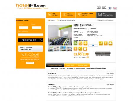 Hôtel pas cher hotelF1 Dijon Sud : hotel...