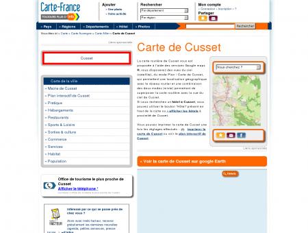 Carte et plan de Cusset 03300 : Hôtel, tourisme ...