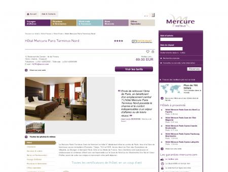 Hotel PARIS - Hôtel Mercure Paris Terminus Nord