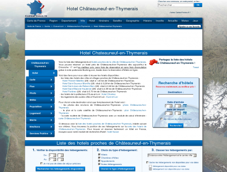 HOTEL CHATEAUNEUF-EN-THYMERAIS :...