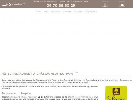 Hotel La Sommellerie 3 étoiles à Chateauneuf...