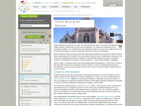 Hotel Bourg en Bresse : 16 hotels pour un prix...