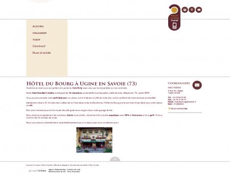 Hotel Ugine - HOTEL DU BOURG : hotel avec...