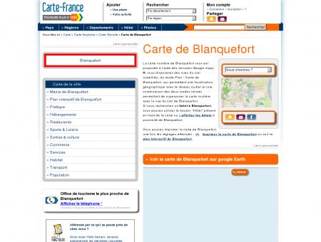Carte et plan de Blanquefort 33290 : Hôtel,...