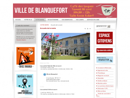 Hôtel de Ville - Accueils de la mairie