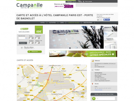 Hotel avec parking gratuit à Paris Porte de...