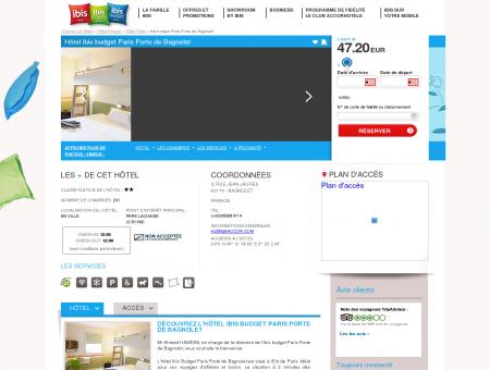 Hotel pas cher BAGNOLET - ibis budget Paris...