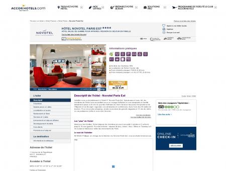Hôtel à BAGNOLET - Novotel Paris Est - Accor...