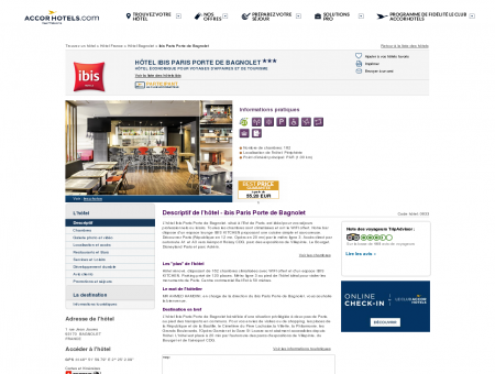 Hôtel à BAGNOLET - ibis Paris Porte de Bagnolet