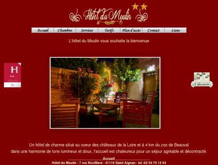 Accueil - Hotel du Moulin Saint Aignan sur Cher