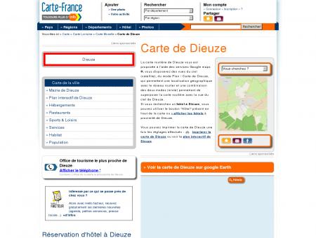 Carte et plan de Dieuze 57260 : Hôtel, tourisme ...