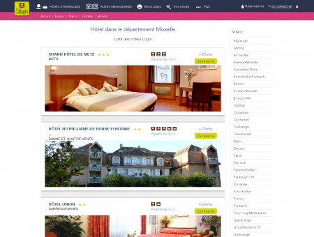 Hôtel dans la Moselle. Restaurants logis hotels...