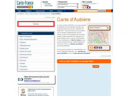 Carte et plan d'Aubière 63170 : Hôtel, tourisme ...