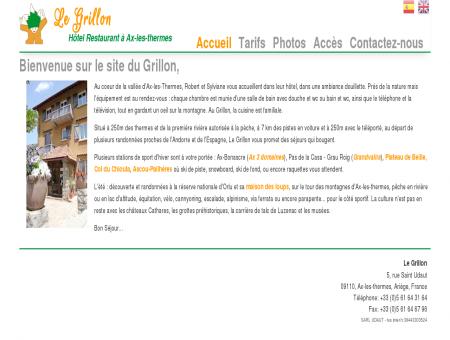 Le Grillon - Hôtel Restaurant à Ax-les-thermes