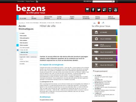 Bezons : Hôtel de ville