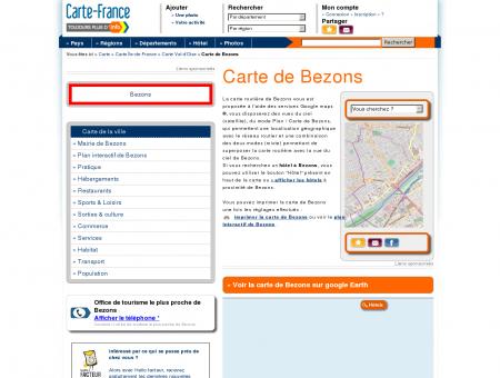 Carte et plan de Bezons 95870 : Hôtel,...