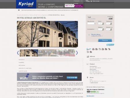 Hotel Kyriad Argenteuil - Bezons | Hotels Kyriad