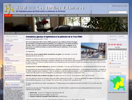 Hôtel  Les Jardins d'Asnières