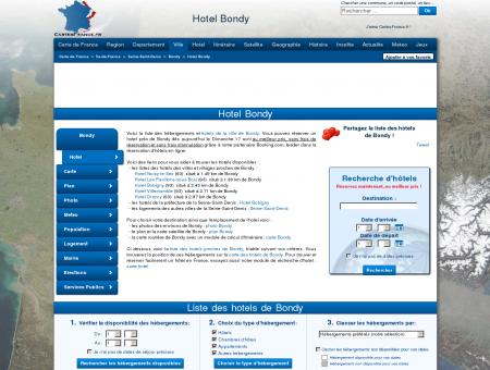 HOTEL BONDY : Réservation hôtels Bondy...