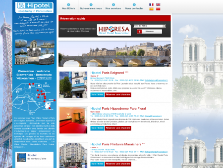 Hipotel - site officiel - Hôtels Paris