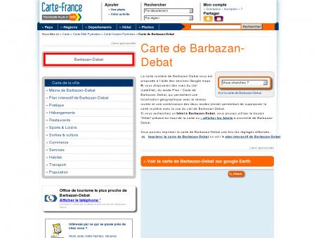 Carte et plan de Barbazan-Debat 65690 :...