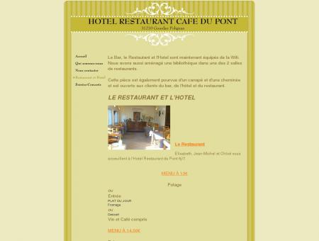 HOTEL RESTAURANT CAFE DU PONT -...