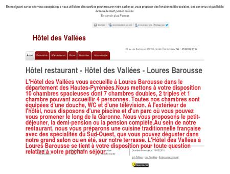 Hôtels restaurants - Hôtel des Vallées à Loures...